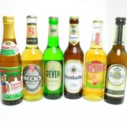 Bier Sorten in Flaschen