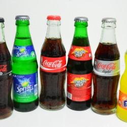CocaCola Sorten in Glas Flaschen