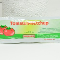 Tomatenketchup in Portionen